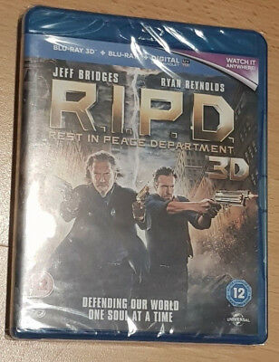 R.i.p.d Ripd Rest In Peace Department 3D/2D Blu-Ray New & Sealed Free P&p