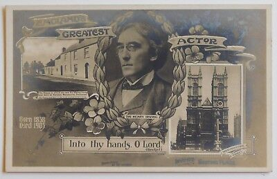 SIR HENRY IRVING, Actor RP - 1900's - Vintage postcard