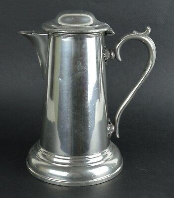 Antique Pewter Coffee Pot. English, 19th Century