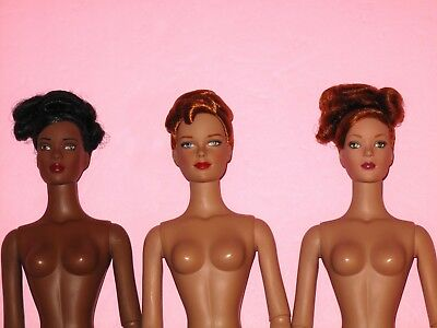 """Tonner - LOT of 3 NUDE 16"""" Bending Arm Tyler Wentworth Fashion Dolls"""
