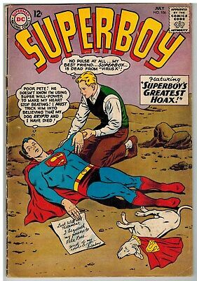 Superboy #106 1963 Dc Silver Age!