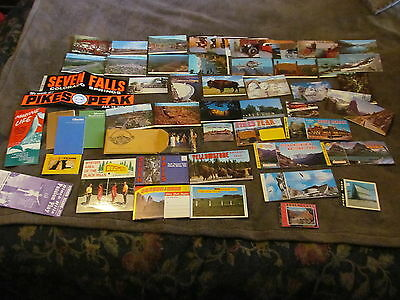 Fabulous Lot Of Vintage Post Cards & Post Card Books From Western USA - 1970s