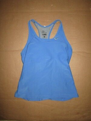 9a13c59036e77 Womens NIKE DRI FIT athletic tank top built in sports bra S Sm running gym  yoga