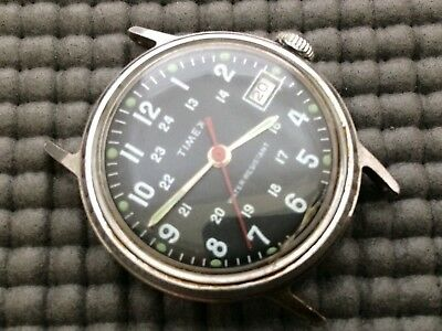 TIMEX  Vintage Military Style Mechanical Hand Wind Wristwatch   c.1975