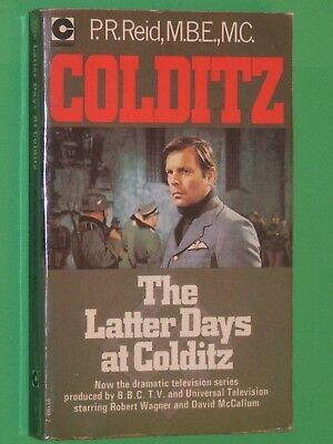 COLDITZ : The Latter Days Of / P R REID /  ROBERT WAGNER TV Tie-In Cover / 1972