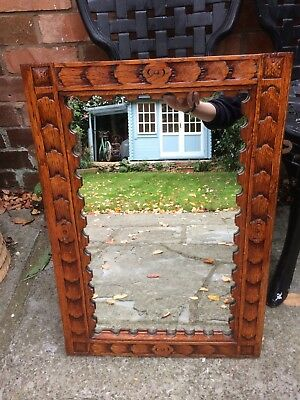 Antique carved wooden mirror in excellent condition