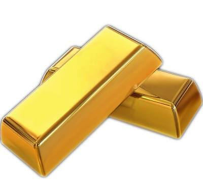 1x 24k Pure Solid 999/1000 Gold Bullion Investment Ingot Bar 1 Grain (Not Gram)