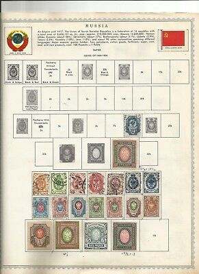 RUSSIA 3437 Diff. Postage Stamps on album pages (1889-1991) estate sale lot