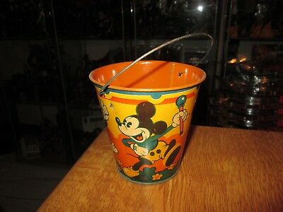 Vintage Disney Tin Toy Sand Pail no.7 Seaside by Happynak from the 30's pail B