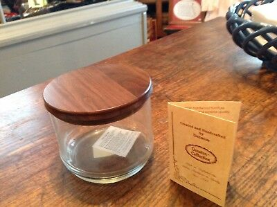 Decatur Collection Solid Walnut Lid On Tobacco Jar Vintage Yet NIB