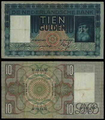AI.036) NETHERLANDS 10 gulden 1936 VF