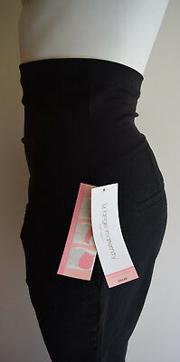 Brand New Liz Lange 3-In-1 Straightleg Black Maternity Dress Pants Xs Adjustable