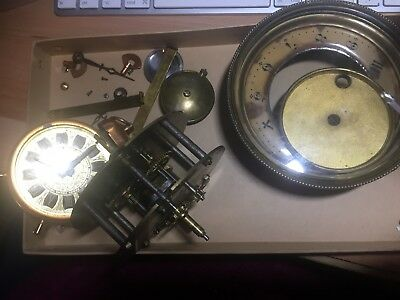 Small lot of vintage clock parts for re-use, upcycle etc.Crafts