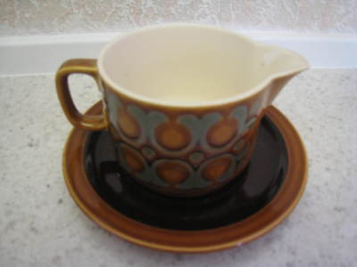 Vintage Hornsea Pottery  Bronte  Gravy/sauce  Boat With Matching Large Saucer