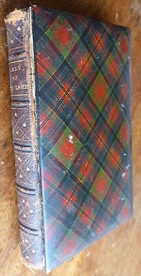 Antique McPherson TARTAN WARE Book The Lady of the Lake Sir Walter Scott