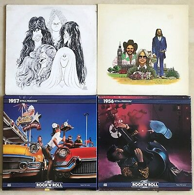 60's 70's CLASSIC ROCK 9 LP LOT - Various artists AEROSMITH / AMERICA + others