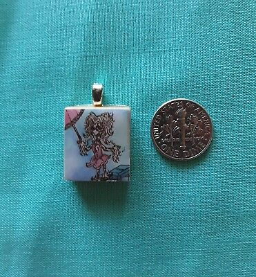 Chinese Crested Scrabble Piece Charm