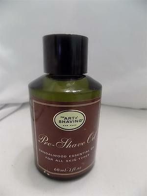 The Art of Shaving Pre Shave Oil SANDALWOOD 2 oz New Unboxed $25 RETAIL