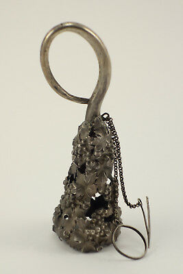 Unusual Antique Victorian Sterling Silver Sewing Tool ? Grapes & Vine