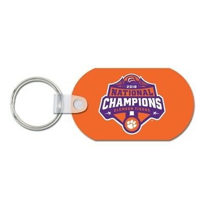Clemson Tigers Football Logo 2018 National Champions Metal Keychain Key Ring