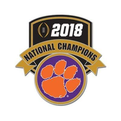 Clemson Tigers Football 2018 National Champions Logo Collector Trading Pin