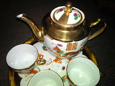 Chinesisches Teeservice - Porzelan - Made in China
