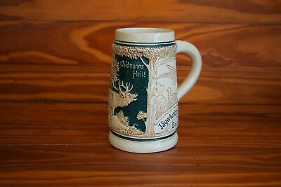 "Antique German Beer Stein Mug stands 4.5"" tall"