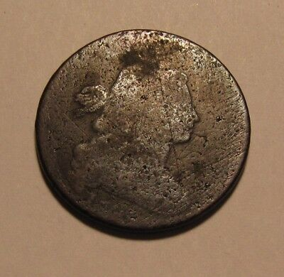 1798 (Small Date) Draped Bust Large Cent Penny - Reverse Die Break - 39SU-2