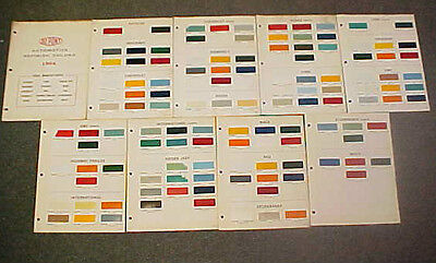 1964 Chevrolet Ford International Truck Paint Chips Color Chart Brochure 64 Chip