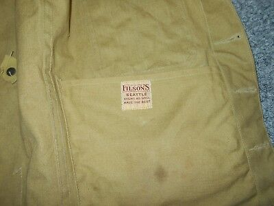 Filson Usa Vintage 70's Mens Small Tan Hunting Vest