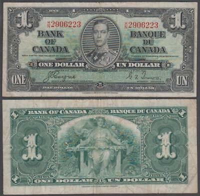 1937 Bank of Canada King George VI 1 Dollar