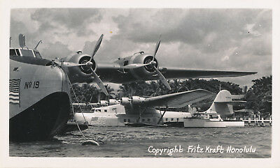 1930s Two Pan Am Clipper airplanes Hawaii photo China Clipper & No 19
