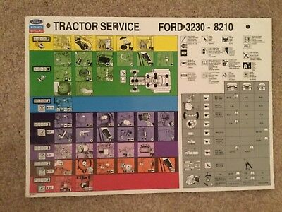 Ford New Holland Service Chart 8210 Tractor Brochure Manual