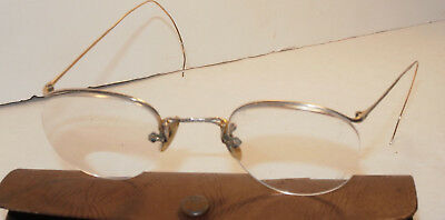 Vintage Ao American Optical 1/10 12K Gf Gold Filled Eyeglasses! Rimless! Small
