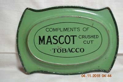 Early Mascot Crushed Cut Tobacco Tip Tray With Litho Tall Ship Motif