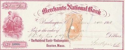 New England  1868  Merchants National Bank, Burlington, Vermont
