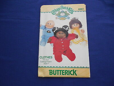 Vintage Butterick Cabbage Patch Pattern 1984 #6507 With Transfers Partially Cut