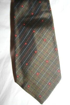 Tommy Nutter Savile Row Rare Iconic Designer Green Check Silk Tie Mint Condition