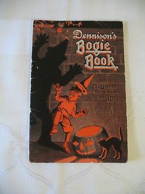 1920's Original ~ Dennison's Bogie Book ~  Halloween  Illustrated Costumes