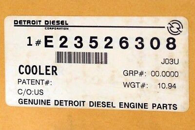 Detroit Diesel Series 60 Engine EGR Cooler E23526308 (505-11131)