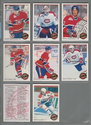 1992-93 O-Pee-Chee Premier Montreal Canadiens Complete Team Set