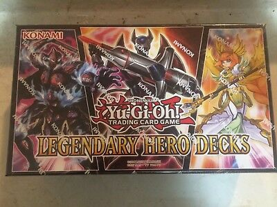 Yu-Gi-Oh - Legendary Hero Decks - Box Set 3 Decks - Factory Sealed