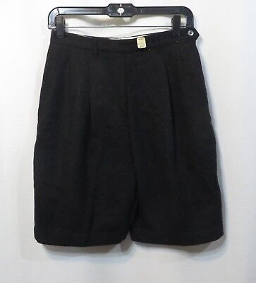 Vintage 50s Walking Shorts High waist side metal zipper NOS Rockabilly Geek Wool