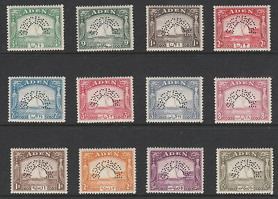 268 ADEN 1937 DHOW set of 12 perforated SPECIMEN - only about 400 produced
