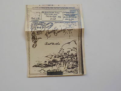 WWII V-Mail 1943 Christmas Greeting Card North Africa Cambridge Maryland WW2