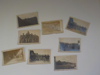 8 WWI Photo Postcards Military Lot World War One Collection VTG WW I Paper WW1