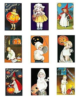 Sweet Kids Halloween Greetings Cotton Fabric Blocks FrEE ShiPPinG WoRld WiDE