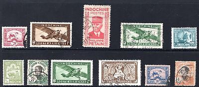 China Indochina group of old stamps