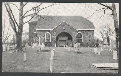 (Jc) Us Holy Trinity Church (Swedes) Wilmington Del Real Photo Ppc (M033)