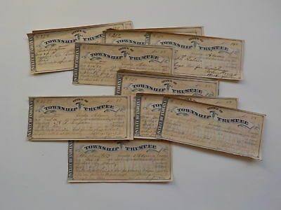 40 Antique Checks 1880-81 Scrips Paper Money Lot Washington Adams County Indiana